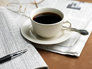 Газета и кофе с утра